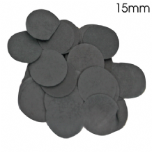 Black Tissue Paper Confetti | 15mm Round | 14g Bag